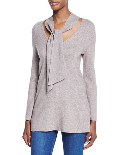 Delores Tie-Neck Sweater
