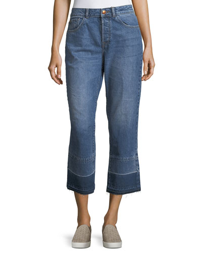 Patti Straight-Leg Denim Jeans