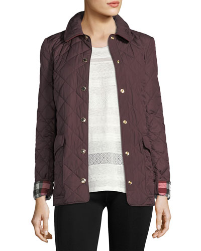 Westbridge Quilted Snap Jacket