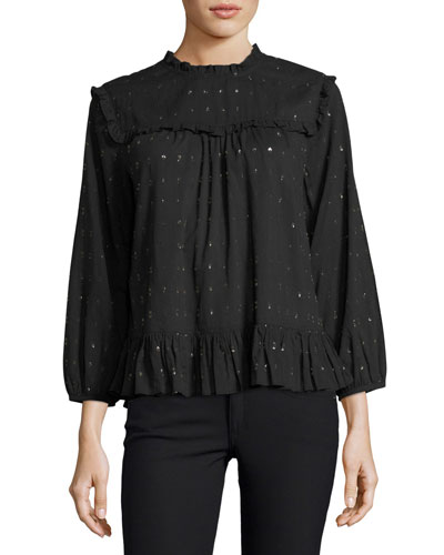 Gianella Long-Sleeve Poplin Blouse