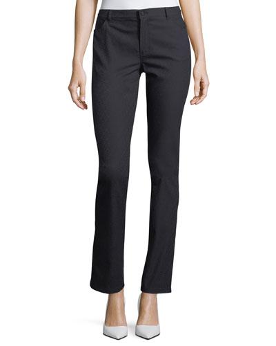 Thompson Diamond Stretch-Jacquard Slim-Leg Jeans