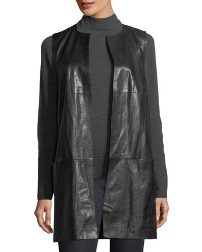 Laritza Paneled Lambskin Leather Vest
