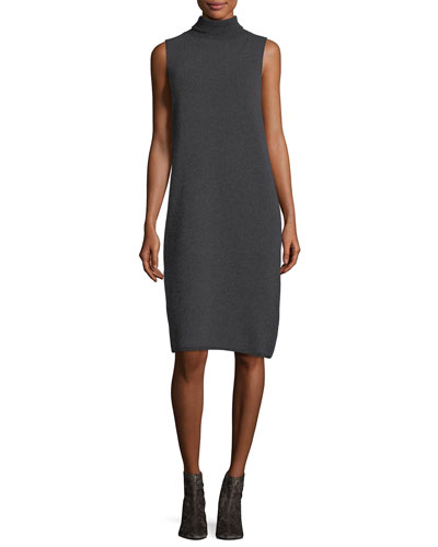 Vanise Sleeveless Superfine Wool Sweaterdress