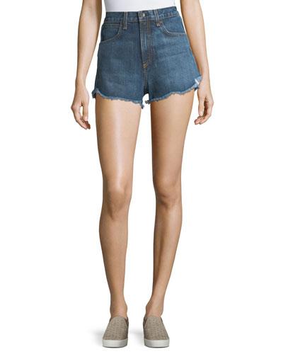 Lou High-Waist Cutoff Denim Shorts