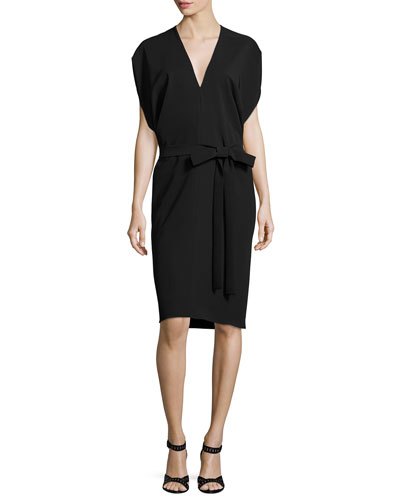 Aimee Dolman Sleeve Bias Sheath Dress