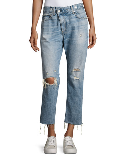 Wicked Deconstructed Denim Jeans