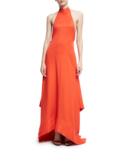 Esme Halter Sleeveless Linen Gown