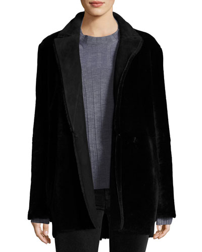 Clairene Coat Light Merino Coat, Black
