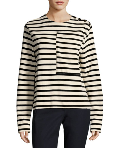 Breton Long-Sleeve Striped Cotton T-Shirt