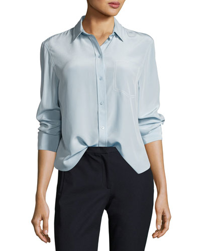 Garcon Long-Sleeve Button-Front Silk Shirt
