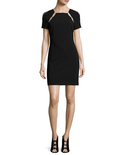 Kristiana Fitted Sheath Dress W/ Inserts