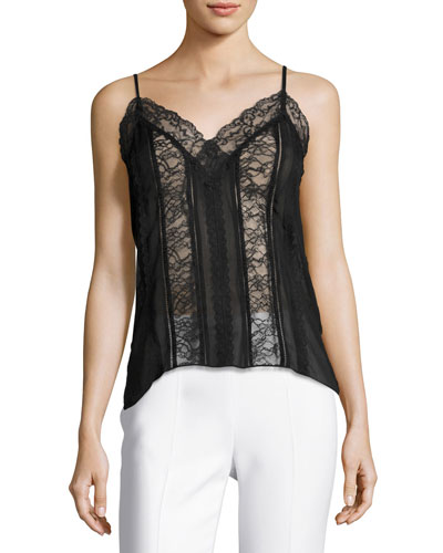 Marla V-Neck Lace Combo Camisole