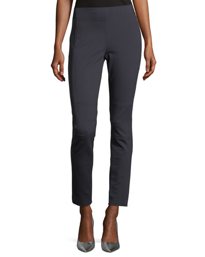 Oleander Straight-Leg Stretch-Knit Ankle Pants