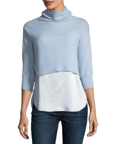 Claudetta Cashmere & Silk Combo Sweater