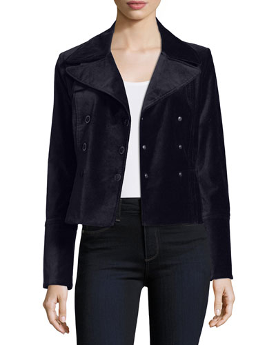 Regina Double-Breasted Velvet Jacket