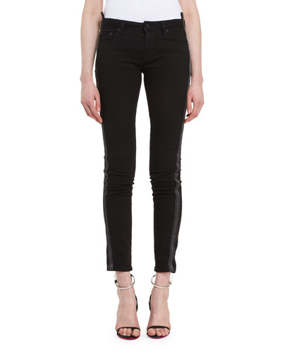 Side-Stripe Skinny Pants