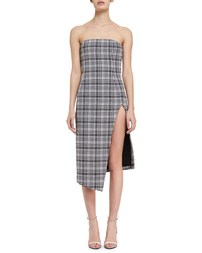 Strapless Plaid Bustier Dress