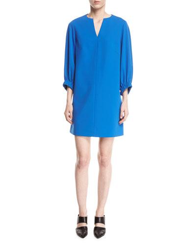 STR CREPE SHIFT DRESS
