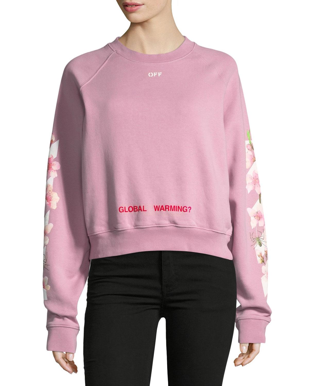 Cropped Cherry Blossom Sweatshirt