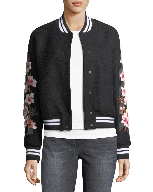 Cherry Blossom Varsity Jacket