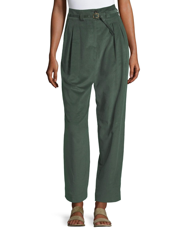 Joan Pleated Corduroy Pants