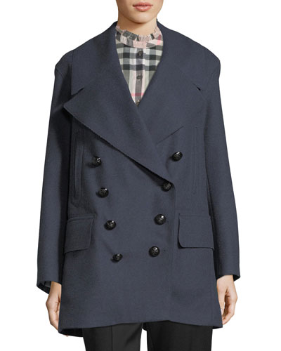 Oversized Wool-Blend Coat