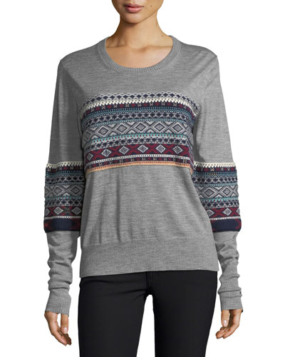 Long-Sleeve Fair Isle Sweater