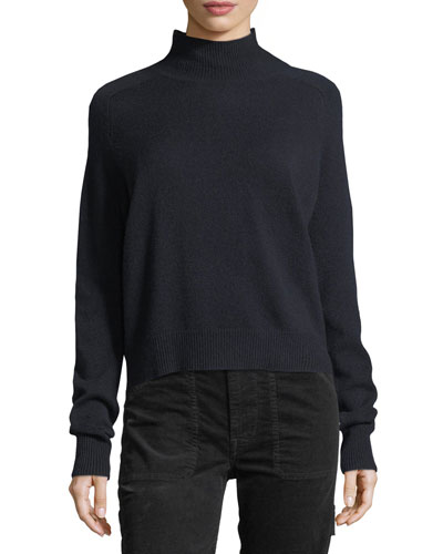 Saddle Cashmere Turtleneck Sweater