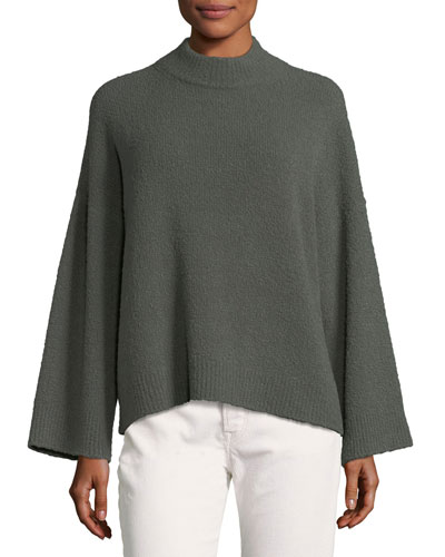 Boxy Pullover Wool Sweater