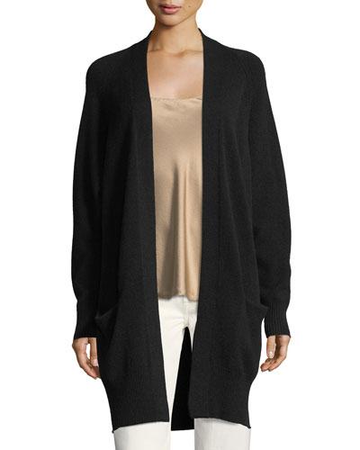 Cashmere Raglan Sleeve Cardigan  Sweater