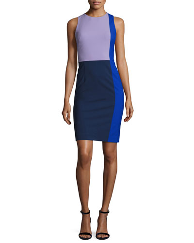 Sleeveless Paneled Tailored Cocktail Dress