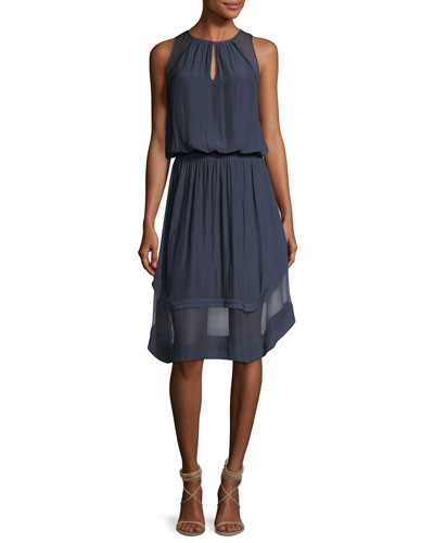 Quinn High-Neck Sleeveless Dress