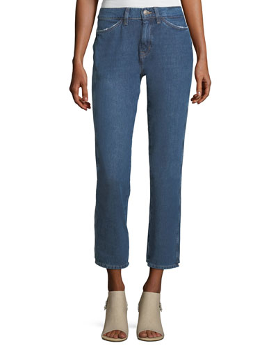 Cult Mid-Rise Straight-Leg Ankle Jeans
