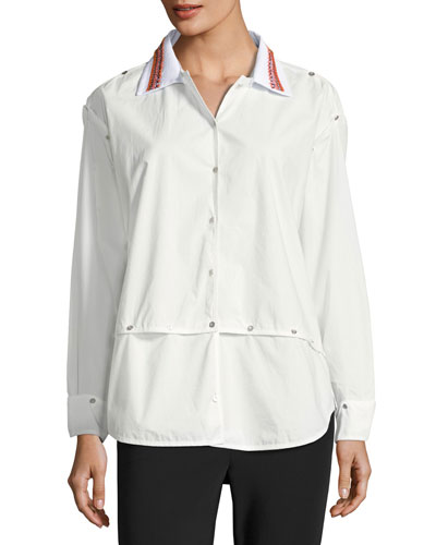 Poplin Transformer Button Shirt