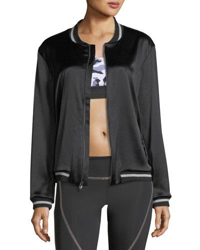 Base Satin Bomber Jacket