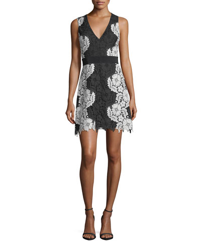 Patrice Deep V-Neck A-Line Short Dress