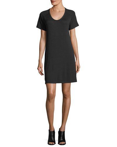 Scoop-Neck Raglan Jersey Mini Dress