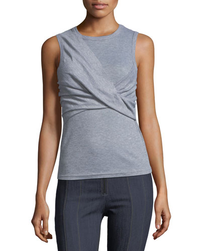 Kierre Twisted-Front Ribbed Tank Top