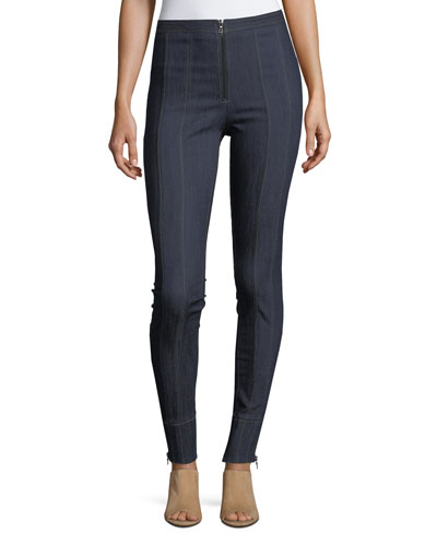 Marielle High-Waist Denim Leggings
