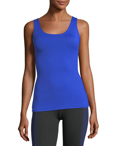 Victory Scoop-Neck Fitted Performance Tank