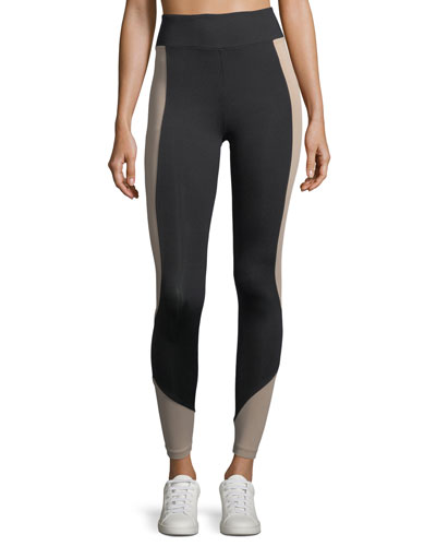Curve Crop Color-Panels Performance Leggings