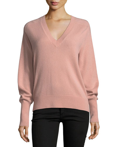 Deacon V-Neck Cashmere Pullover Sweater