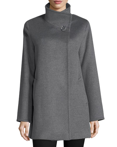 Wool Stand-Collar Coat