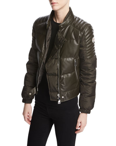 Clematis Quilted Leather Moto Jacket