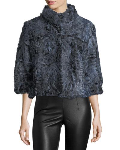 Cropped Kalgan Lamb Fur Jacket
