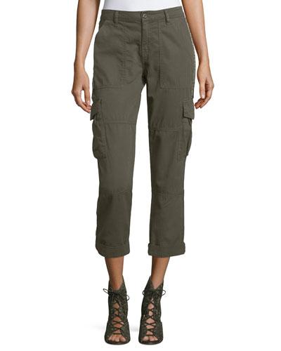 Cargo Pants w/ Embellished Side Stripe