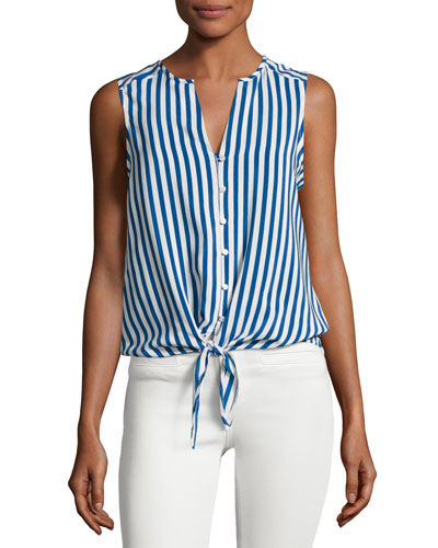 Tyson Sleeveless Tie-Hem Top
