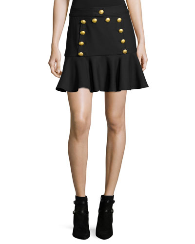 Morrison Sailor Flounce Mini Skirt