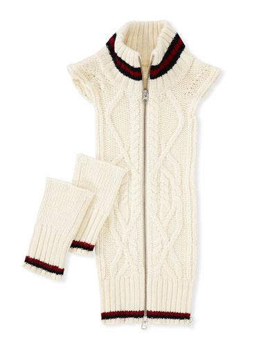 Upstate Knit Dickey W/ Stripes