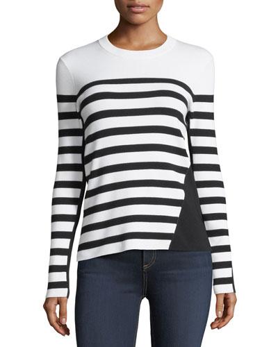 Striped Crewneck Pullover Top